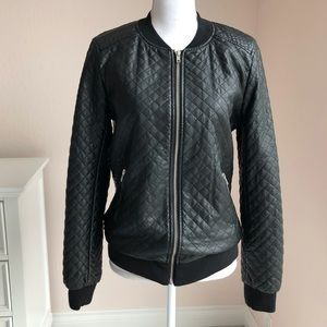 Forever 21 Quilted Bomber Jacket Medium
